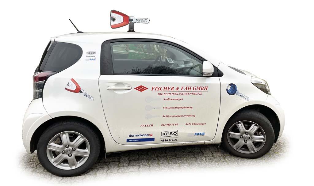 Fischer Fäh GmbH Auto Firmenwagen Schliessanlagenprofis
